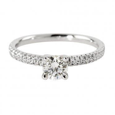 Berry's Platinum Solitaire Brilliant Cut Diamond Engagement Ring