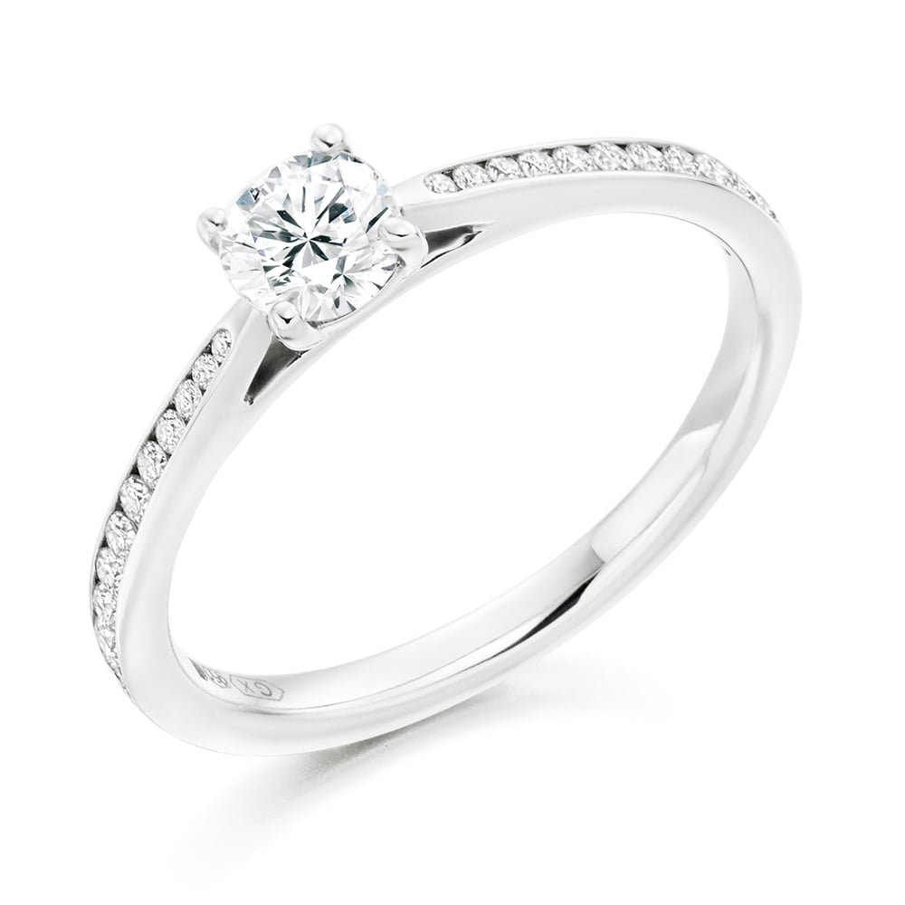 diamond cut premium color in h platinum princess band wedding clarity ring vs and g channel set