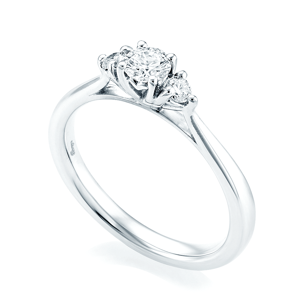 71a19acd795351 Platinum Three Stone Diamond Ring From Berry's Jewellers