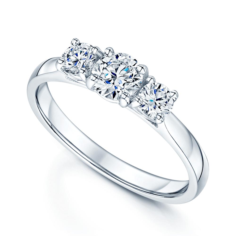 Platinum Engagement Rings Sale Uk: Berry's Platinum GIA Certified Three Stone Diamond Trilogy