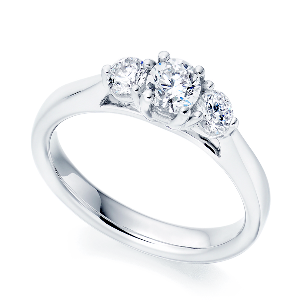 Platinum Engagement Rings Sale Uk: Platinum Trilogy Diamond Engagement Ring From Berry's