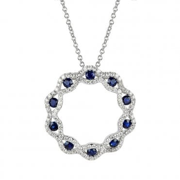 Vintage Collection 18ct White Gold Sapphire And Diamond Necklace