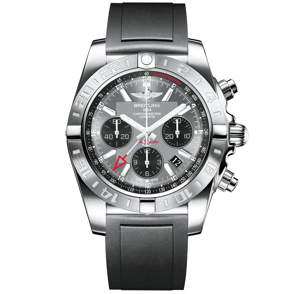 97c29f2e Breitling Breitling Chronomat 44 GMT Blackeye Grey Dial Men's Rubber Strap  Watch