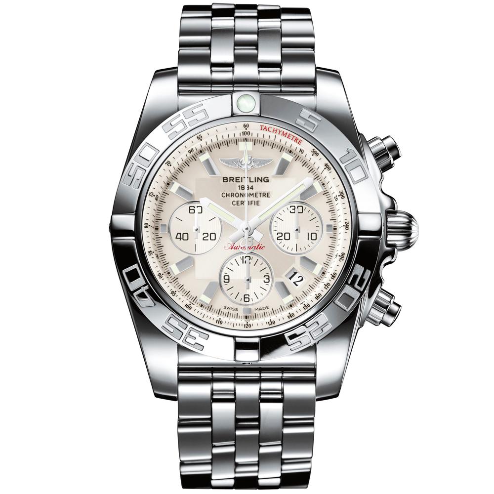 breitling chronomat 44 silver s bracelet