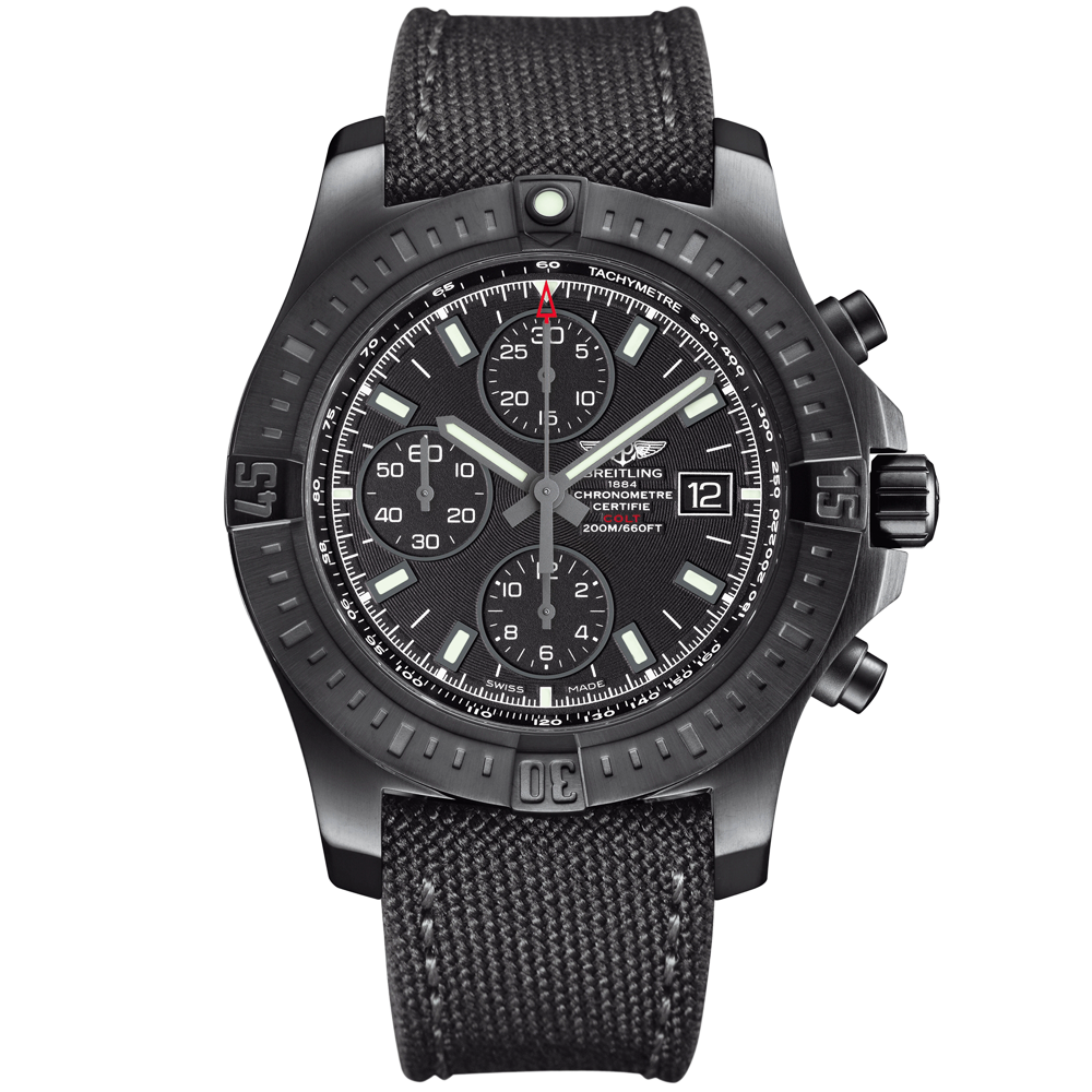 breitling colt black steel limited edition automatic chronograph watch. Black Bedroom Furniture Sets. Home Design Ideas