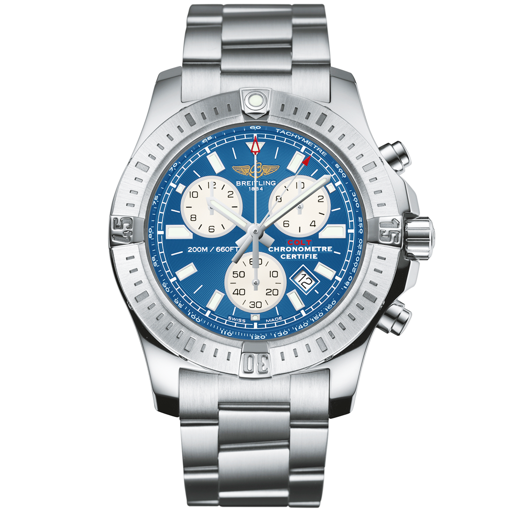 breitling colt chronograph mariner blue dial men 39 s bracelet watch. Black Bedroom Furniture Sets. Home Design Ideas