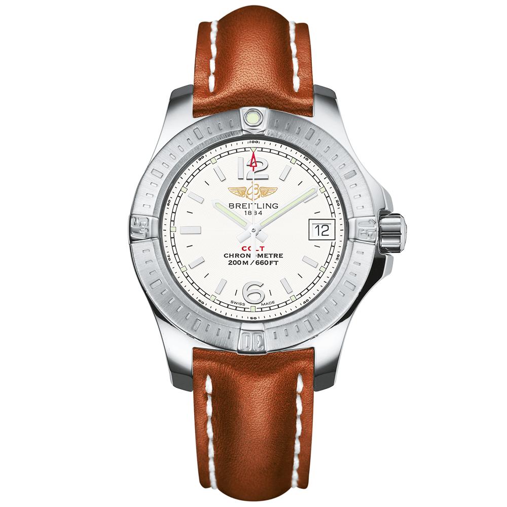 Breitling Colt Lady 33mm Stratus Silver Dial Watch A7738811 G793 74f299b81f3