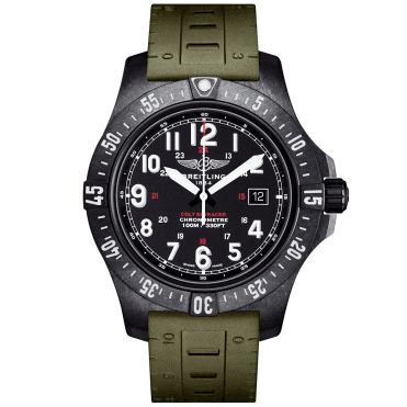 Colt Skyracer 45mm Breitlight & Black Dial Rubber Strap Watch