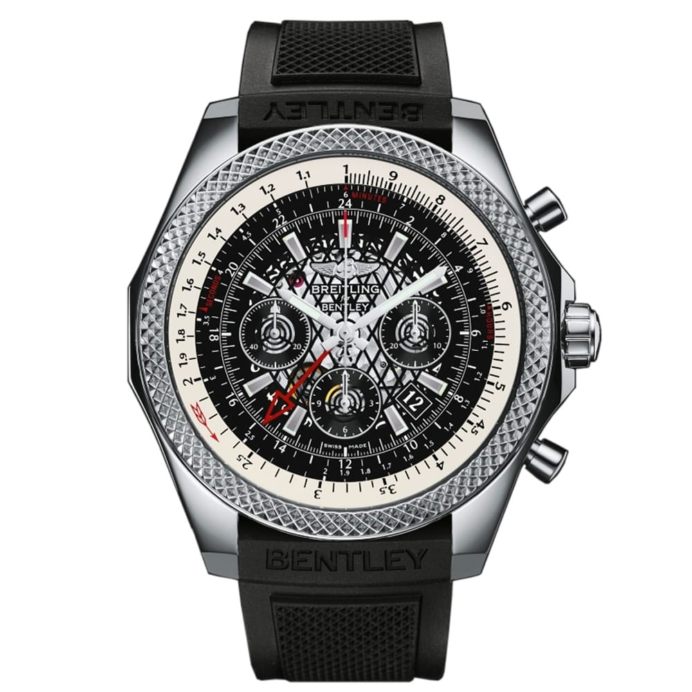 Breitling For Bentley B04 GMT Stainless Steel Men's Black