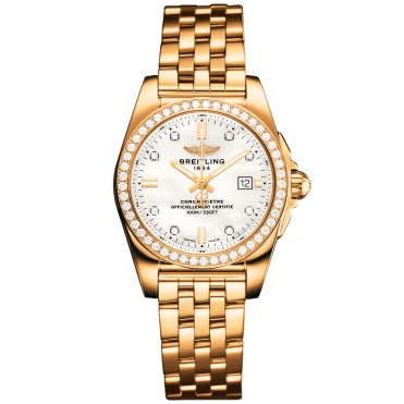 Galactic 29 18ct Rose Gold Diamond Dial & Bezel Ladies Bracelet Watch
