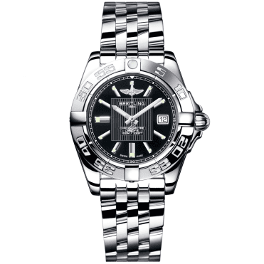 Breitling Galactic 32 Trophy Black Dial & Stainless Steel Ladies Bracelet Watch