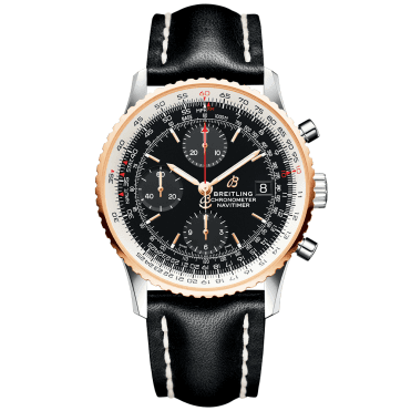 Navitimer 1 41mm Steel & 18ct Red Gold Black Dial Chronograph Watch