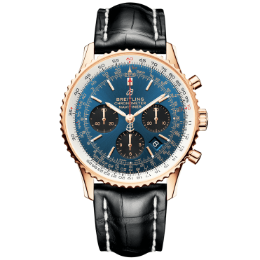 Navitimer 1 43mm Blue/Black Dial 18ct Red Gold Men's Chronograph Watch