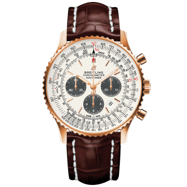 Navitimer 1 46mm 18ct Red Gold & Silver Dial Men's Chronograph Watch