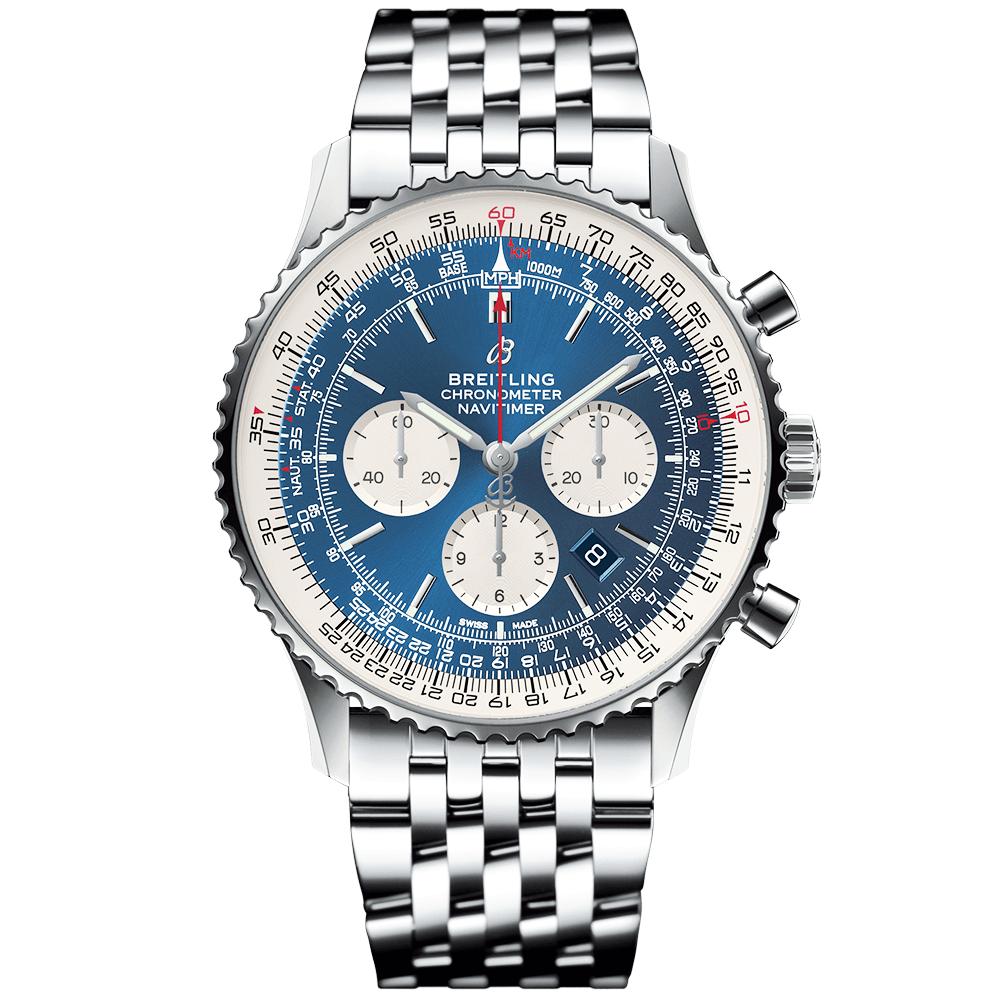 Navitimer 1 46mm Steel Aurora Blue Dial Men S Chronograph Watch