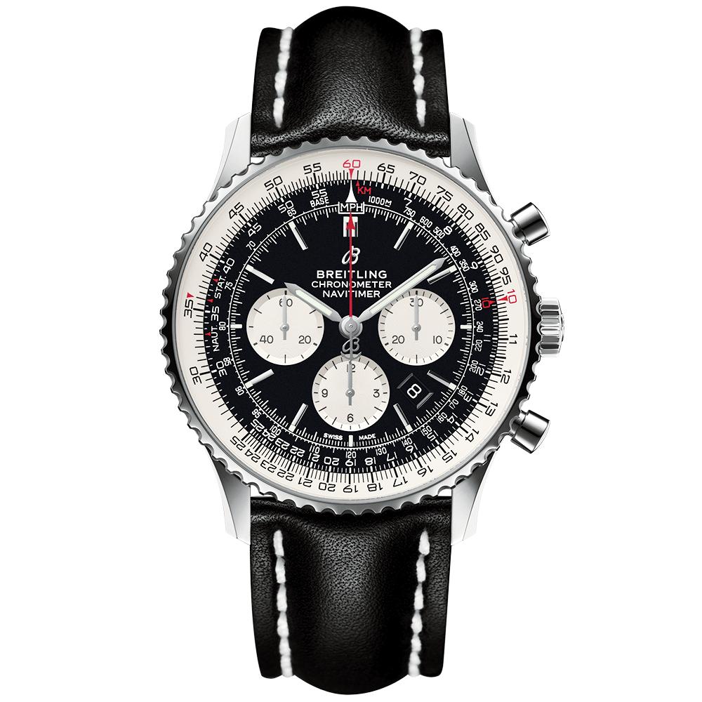 Navitimer 1 46mm Steel Black Dial Men S Chronograph Watch