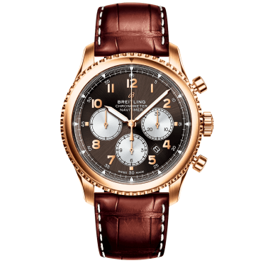 Navitimer 8 43mm 18ct Red Gold & Bronze Dial Men's Chronograph Watch