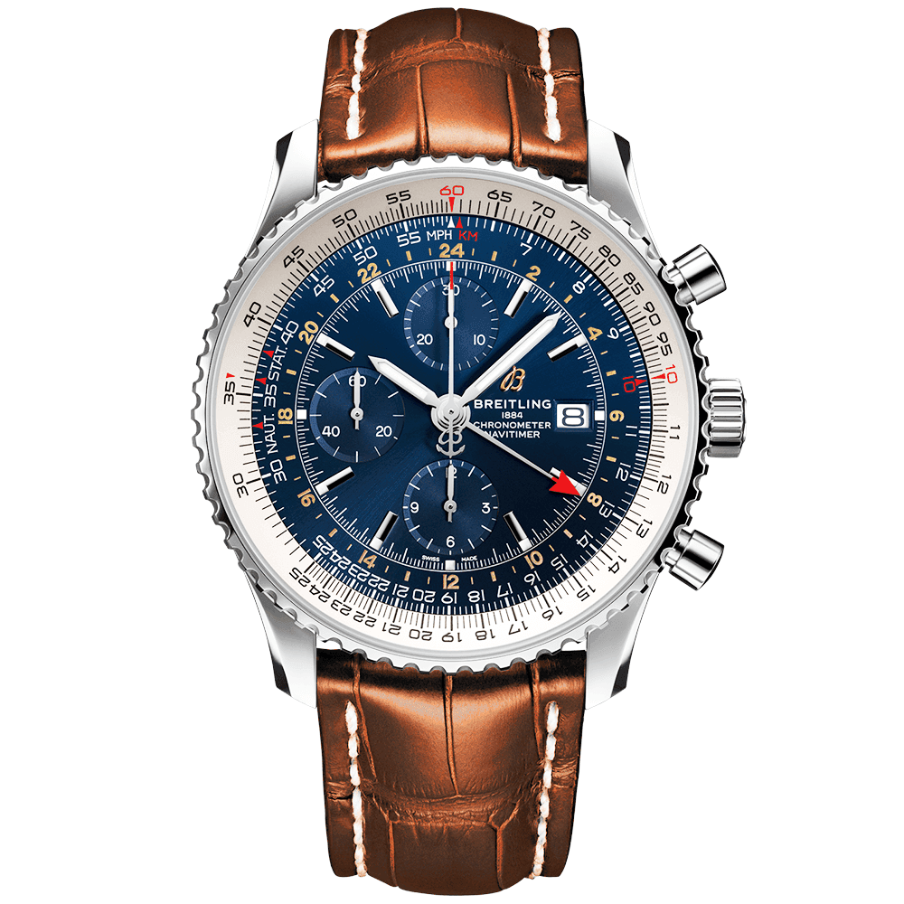 Breitling Navitimer World 46mm Blue Dial Men's Automatic Watch