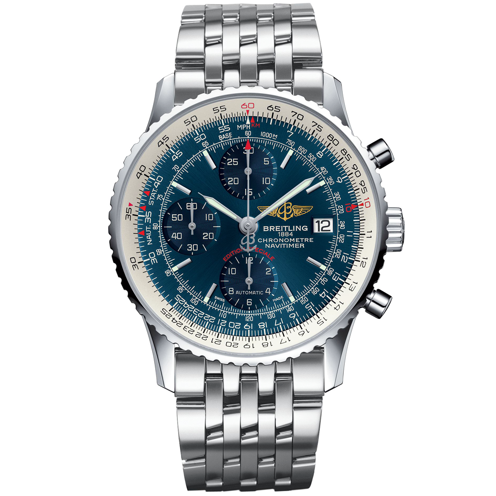 Breitling navitimer heritage a1332412 men 39 s bracelet watch for Watches breitling