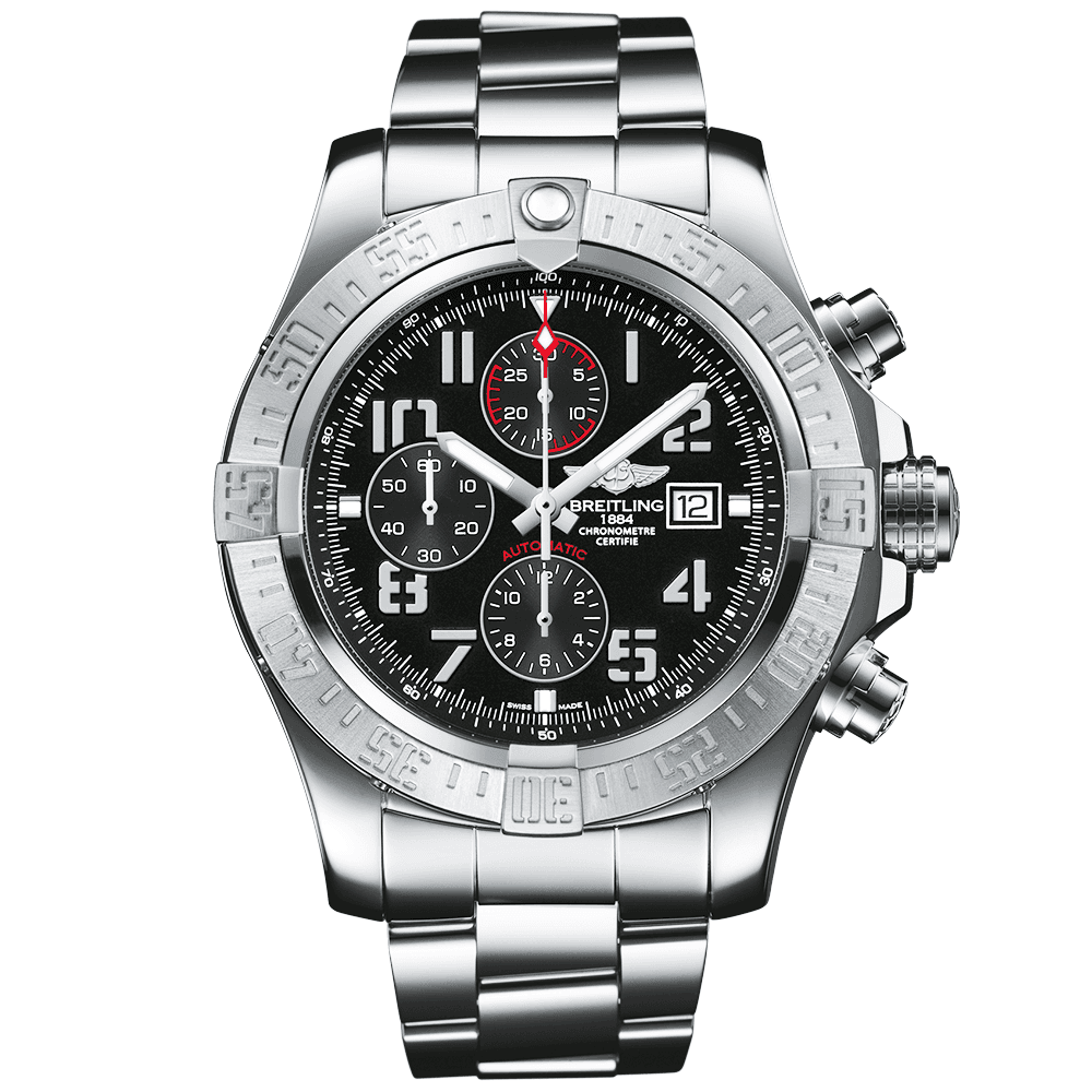 9cf7fa10cd1 Breitling Breitling Super Avenger II 48mm Black Arabic Dial Men s  Chronograph Watch
