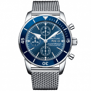 Superocean Heritage II 44mm Blue Dial Day/Date Chronograph Watch