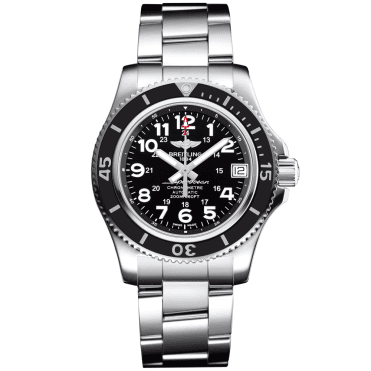 Superocean II 36 Black Bezel & Dial Automatic Bracelet Watch