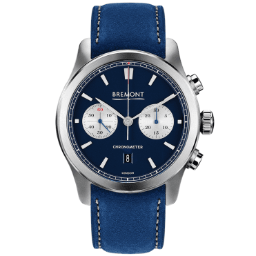 ALT1-C 43mm Blue/Silver Dial Men's Leather Strap Automatic Watch