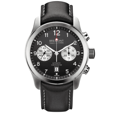 ALT1-C Steel Black Dial Men's Leather Strap Watch