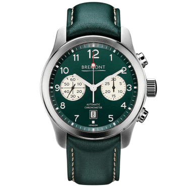 ALT1-C Steel Green Dial Men's Leather Strap Watch