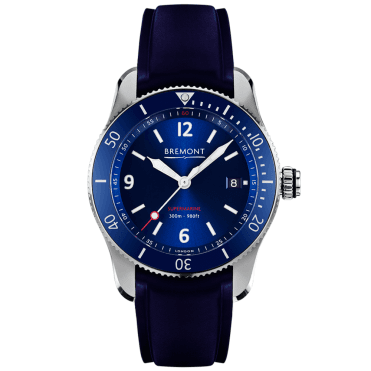 S300 Supermarine 40mm Blue Dial & Rubber Strap Men's Watch