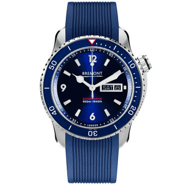 Supermarine S500 43mm Blue Dial & Rubber Strap Men's Watch