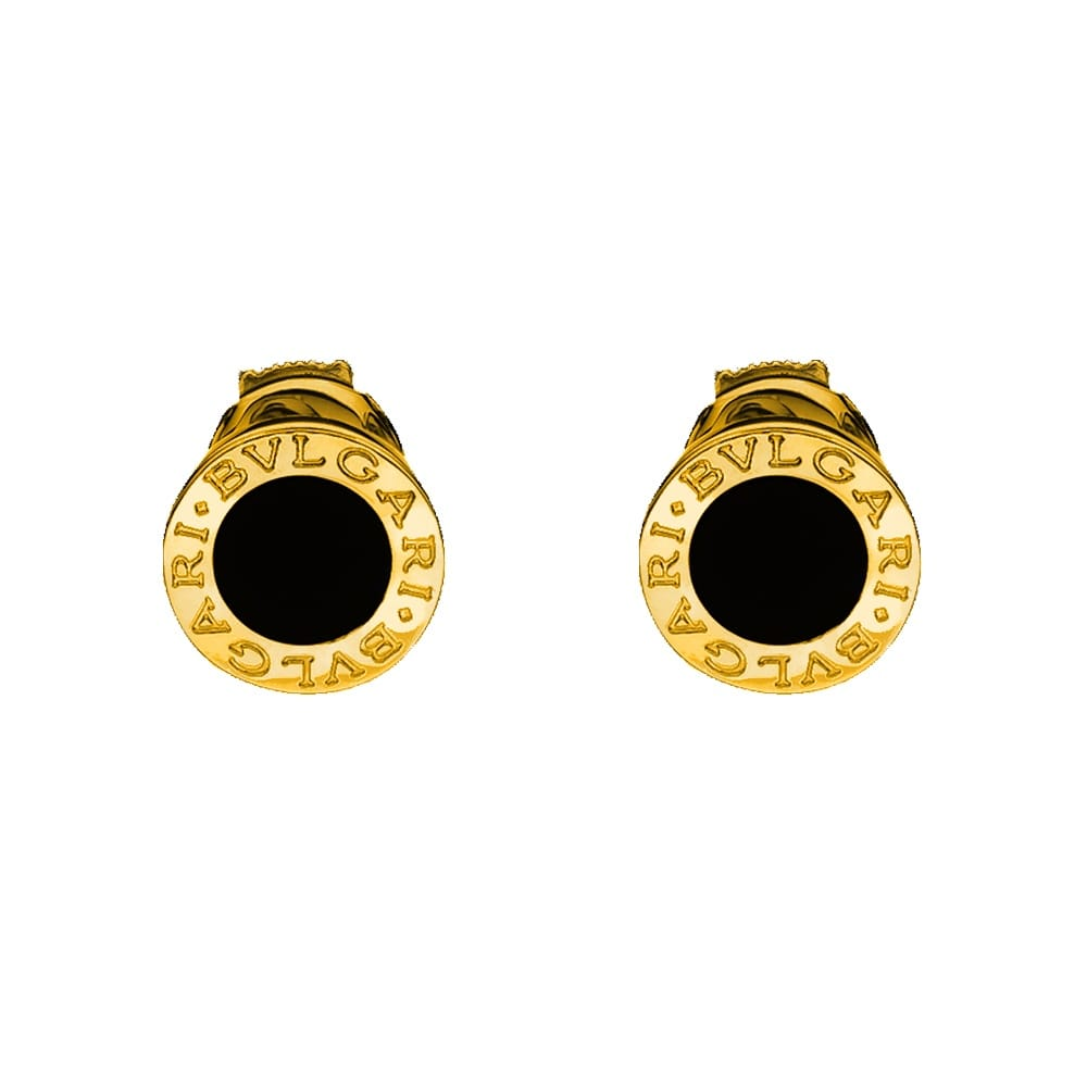 18ct Yellow Gold & Black Onyx Stud Earrings