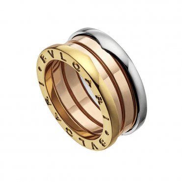 B.zero 1 18ct White, Pink & Yellow Gold Three Band Ring