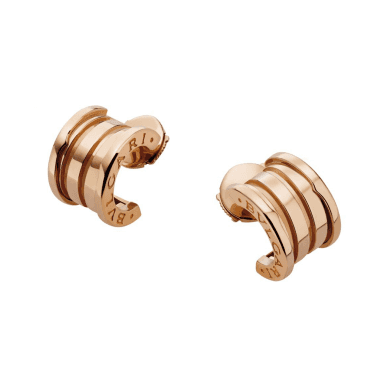 B.zero1 18ct Pink Gold Hoop Earrings