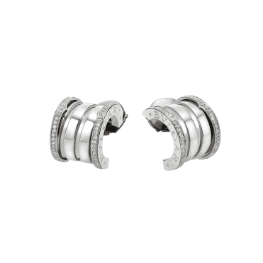 B.zero1 18ct White Gold Diamond Hoop Earrings