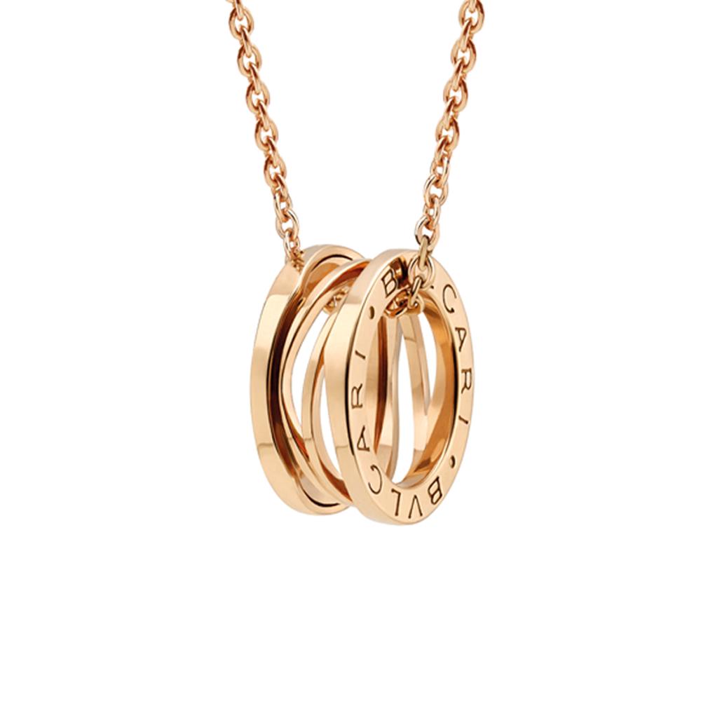 b zero1 zaha hadid 18ct pink gold pendant