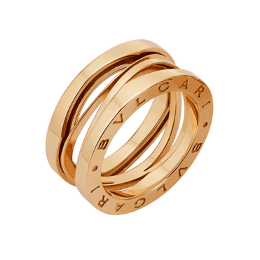 B.zero1 Zaha Hadid 18ct Pink Gold Three Band Ring