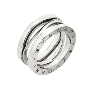 B.zero1 Zaha Hadid 18ct White Gold Three Band Ring