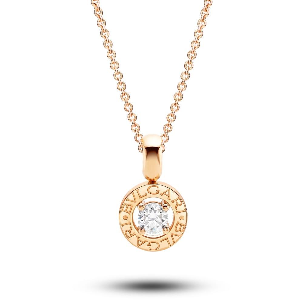 Bulgari 18ct pink gold claw set diamond round pendant bulgari bulgari 18ct pink gold claw set diamond round pendant mozeypictures Gallery