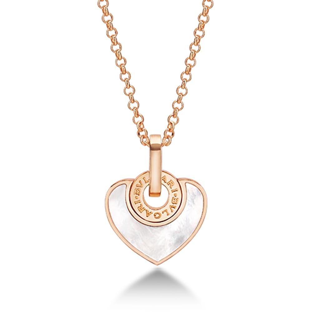bulgari bulgari cuore 18ct pink gold of pearl