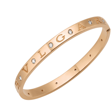 Bulgari Bulgari Roman Sorbets 18ct Pink Gold Diamond Bangle