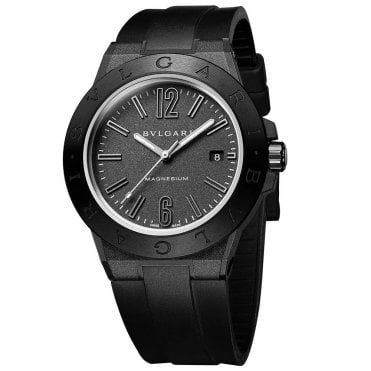 Bulgari Diagono 41mm Black Magnesium & Ceramic Men's Automatic Watch