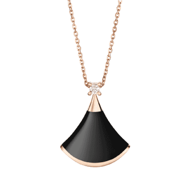 Bulgari Divina Diva's Dream 18ct Pink Gold Black Onyx & Diamond Pendant