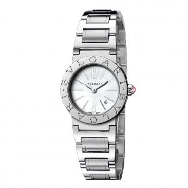 Bulgari Steel 26mm Mother of Pearl Dial Ladies Bracelet Watch