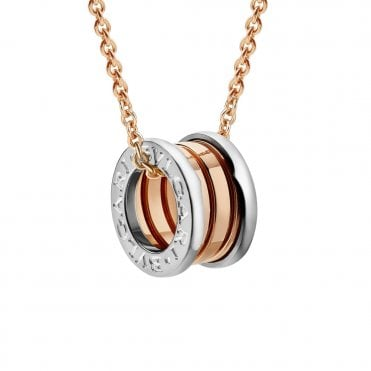 B.Zero1 18ct Pink & White Gold Pendant & Chain