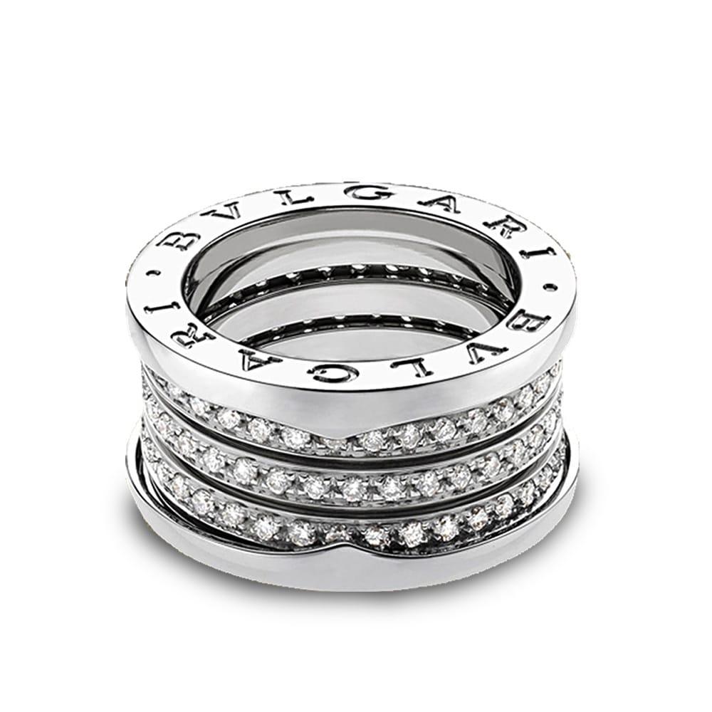 c5c63373e8806 B.Zero1 18ct White Gold Four Band Pave Set Diamond Ring