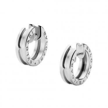 B.Zero1 18ct White Gold Hoop Earrings