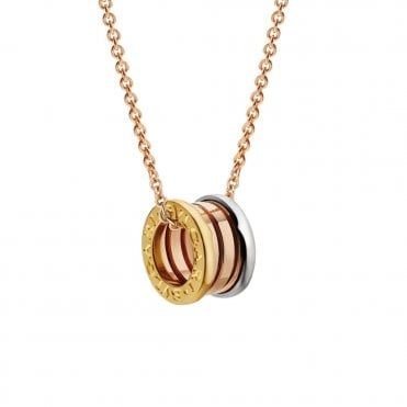 B.Zero1 18ct Yellow, Pink & White Gold Pendant & Chain
