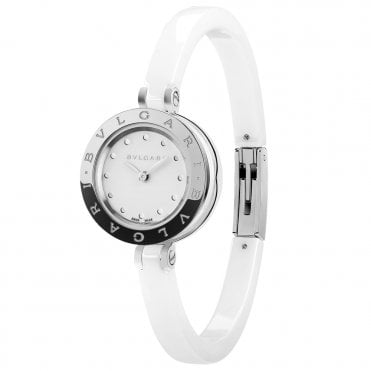 B.Zero1 23mm White Ceramic Ladies Medium Size Bangle Watch
