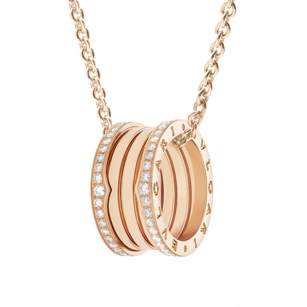 Bvlgari bzero1 diamond set 18ct pink gold pendant from berrys bzero1 diamond set 18ct pink gold pendant aloadofball Images